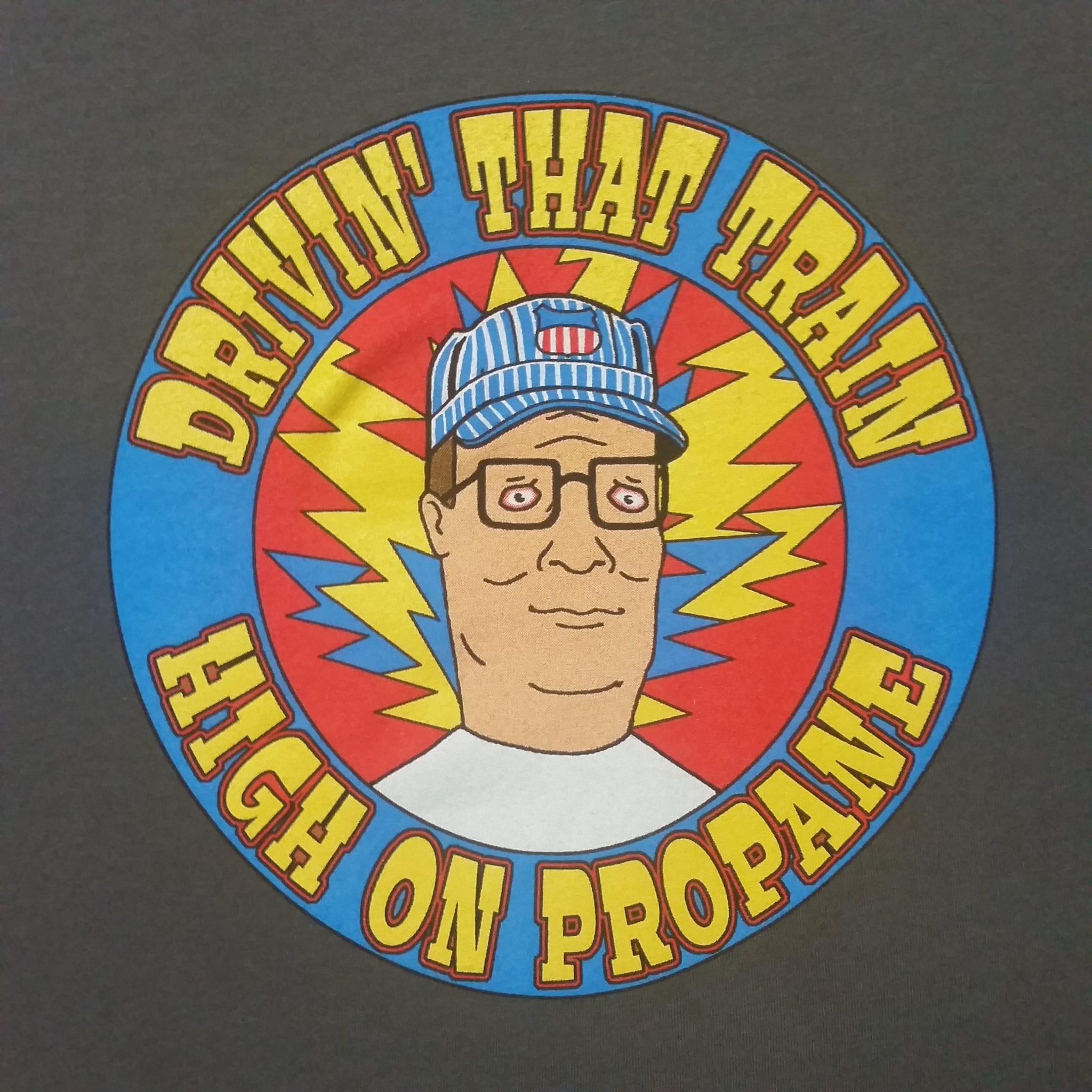 Hank Hill / High On Propane Casey Jones HOODIE - Grateful ...  Hank Hill High