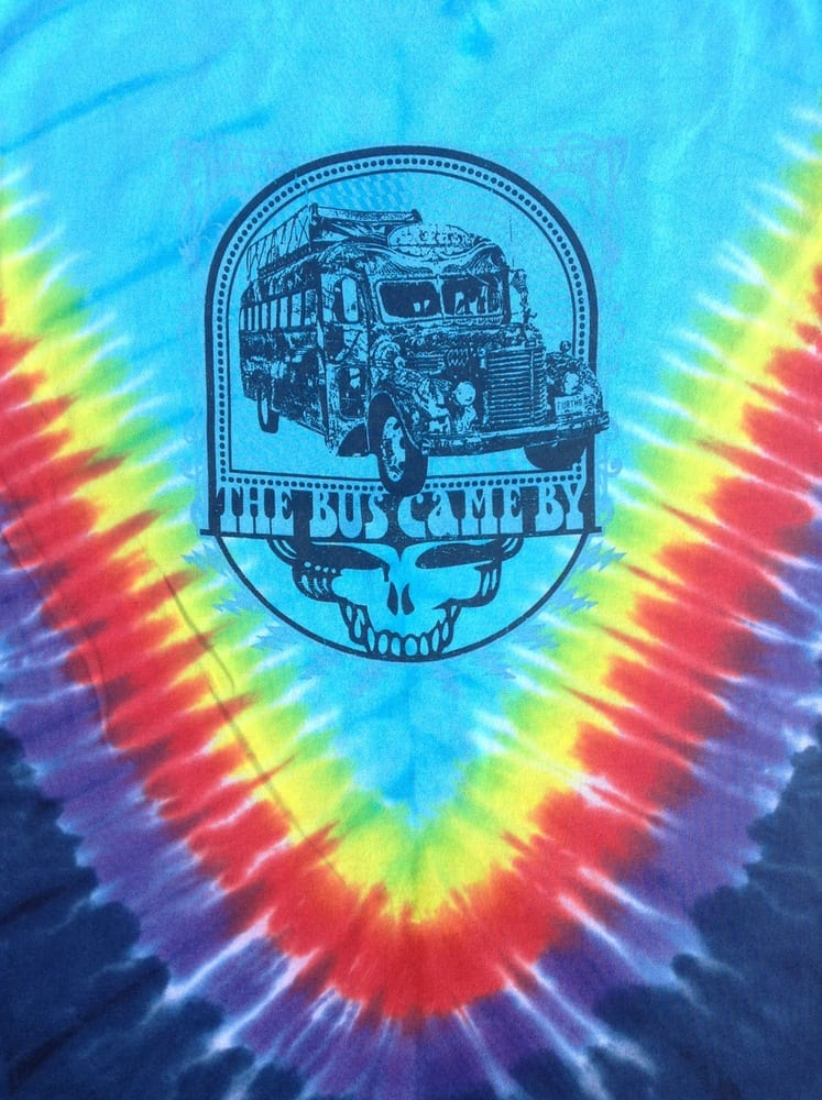 The Other Ones / Furthur bus tie-dyed tee - Grateful Dead and Company Co /  Jerry Garcia inspired