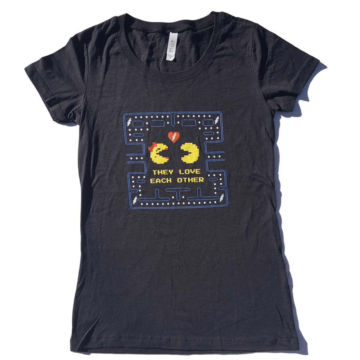 They Love Each Other: LADIES They Love Each Other TLEO Pacman Lyric Tee Shirt
