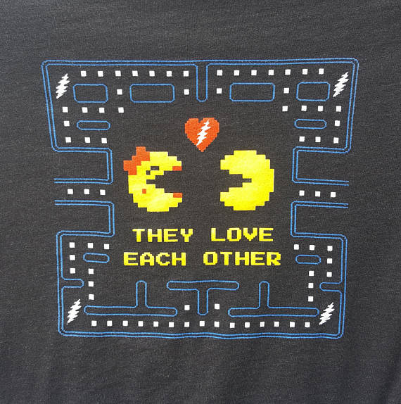 They Love Each Other: They Love Each Other TLEO Pacman Lyric Tee Shirt